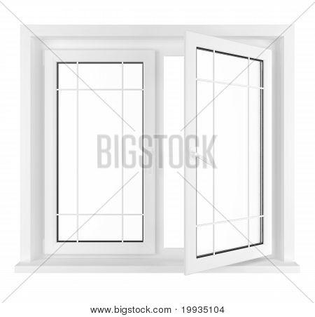 Napůl otevřené okno