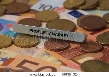 Property Market - Image With Words Associated With The Topic Property Bubble, Word, Image, Illustrat