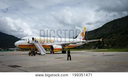Airplanes At Paro Airport In Thimphu, Bhutan