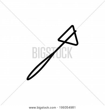 Reflex Hammer Icon Black On White Background