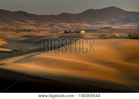Tuscany, Italy - Tuscany Landscape With Rolling Hills