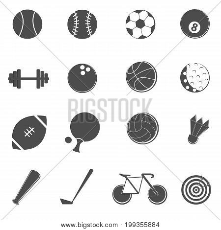 sport icons set on white isolated vector