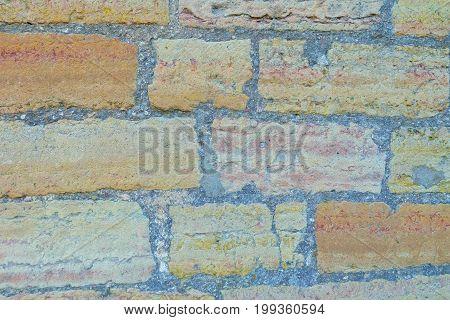 Horizontal photo of the old brick texture