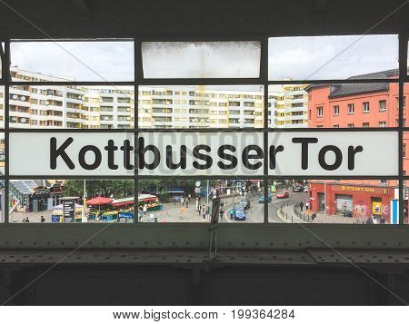 The Window Of The Train Station Kottbusser Tor In Berlin