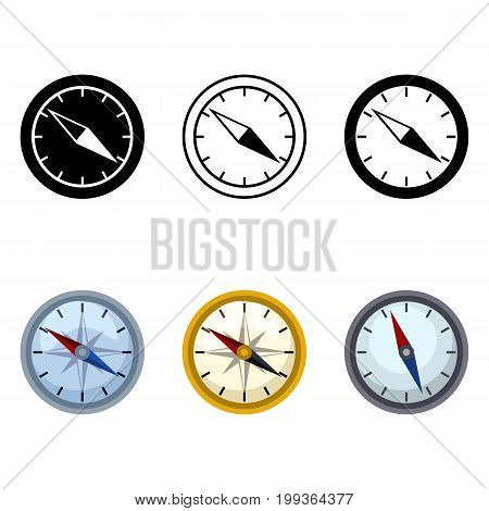 Vector Set Of Geographical Compass Icons