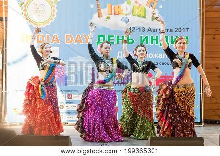 Day of india. Moscow on August 12, 2017. Indian dances on stage