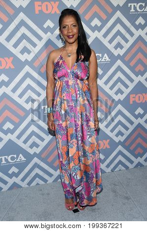 LOS ANGELES - AUG 08:  Penny Johnson Jerald arrives for the FOX TCA Summer Press Tour 2017 on August 8, 2017 in West Hollywood, CA