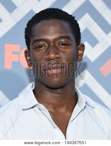 LOS ANGELES - AUG 08:  Damson Idris arrives for the FOX TCA Summer Press Tour 2017 on August 8, 2017 in West Hollywood, CA