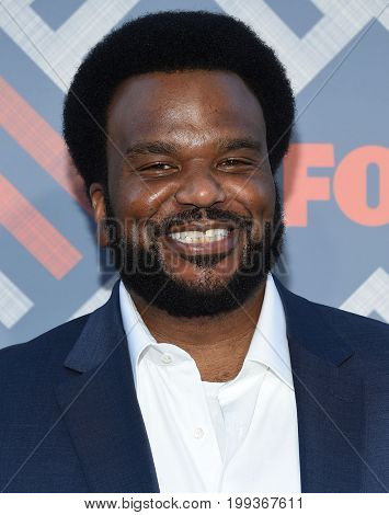 LOS ANGELES - AUG 08:  Craig Robinson arrives for the FOX TCA Summer Press Tour 2017 on August 8, 2017 in West Hollywood, CA