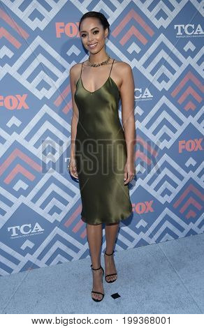LOS ANGELES - AUG 08:  Amber Stevens West arrives for the FOX TCA Summer Press Tour 2017 on August 8, 2017 in West Hollywood, CA