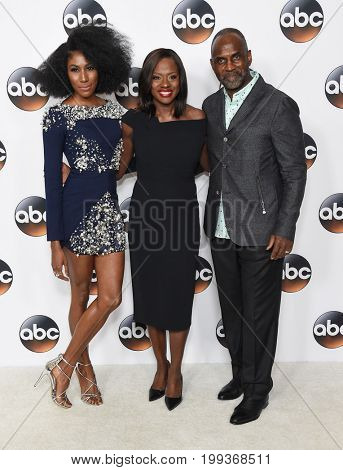 LOS ANGELES - AUG 06:  Diarra Kilpatrick, Viola Davis and Julius Tennon arrives for the ABC TCA Summer Press Tour 2017 on August 6, 2017 in Beverly Hills, CA