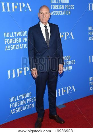 LOS ANGELES - AUG 02:  Patrick Stewart arrives for the HFPA's Grants Banquet on August 2, 2017 in Beverly Hills, CA
