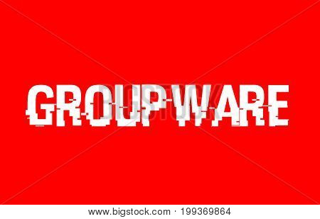 Groupware Text Red White Concept Design Background
