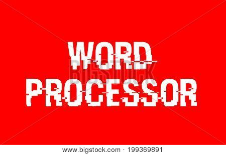 Word Processor Text Red White Concept Design Background