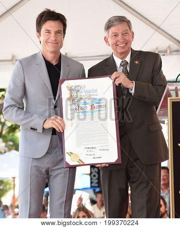 LOS ANGELES - JUL 26:  Jason Bateman and LeRon Gubler Walk of Fame honors Jason Bateman on July 26, 2017 in Hollywood, CA