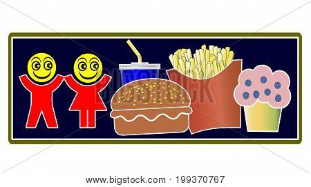 Kids love Junk Food. Boys and girl are enthusiastic about fast food and soft drinks