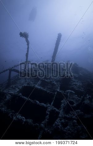 Wreck of numdia in the red sea in egypt