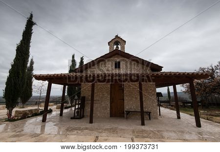 Holy orthodox christian little chapel deticated to Saint Mary at Mitsero village in Cyprus.