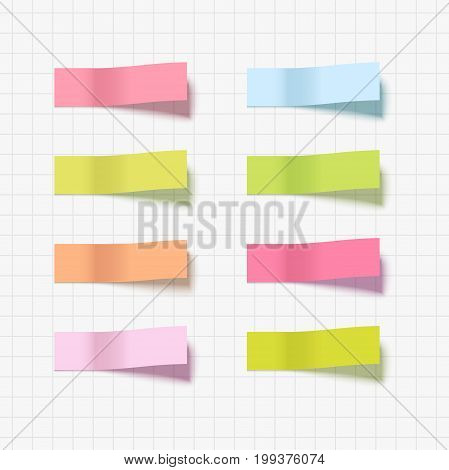 Note sticky sticker isolated. Adhesive office paper tape vector illustration.