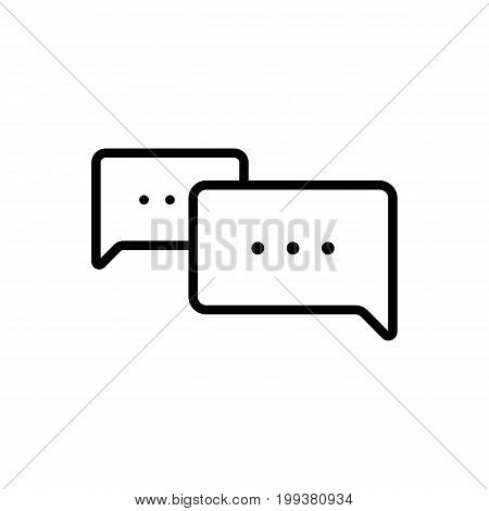 Thin Line Chat, Speech, Comment, Chatting Icon On White Backgrou