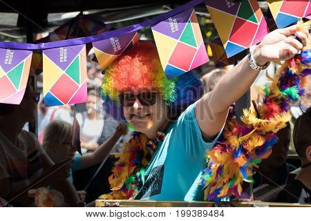 Woman Participating In Prague Pride - A Big Gay & Lesbian Pride