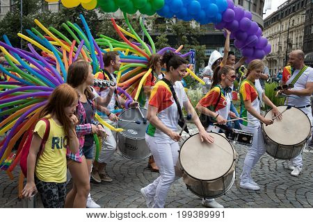 People Participating In Prague Pride - A Big Gay & Lesbian Pride