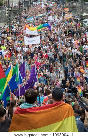 People Participating In Prague Pride - A Big Gay & Lesbian Pride