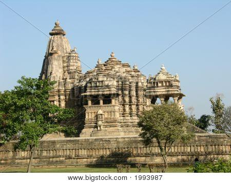 Ancient Hindu Temple At Khajuraho, India