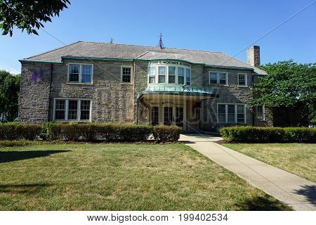 JOLIET, ILLINOIS / UNITED STATES - JULY 18, 2017: The historic John S. Mortimer Building, on Plainfield Road, houses Big Brothers and Big Sisters of Will and Grundy Counties.