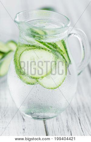 Fresh Made Cucumber Water
