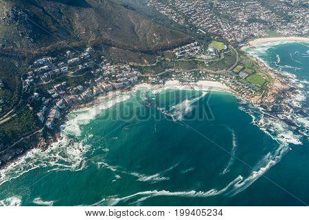 Clifton (cape Town) Aerial Shot
