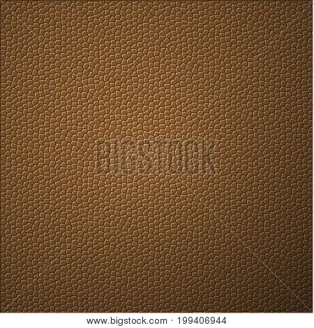 Mono Color of Lizard Skin. Abstract Background. Brown Texture Vector Illustration.