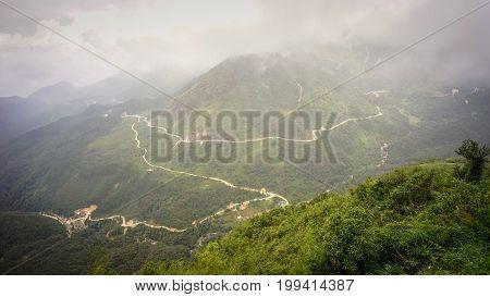 Mount Fansipan In Northwest Vietnam