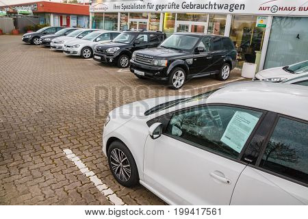 Car Parking And Car Of Auto Dealership Aut Haus Burgdorf In Burg