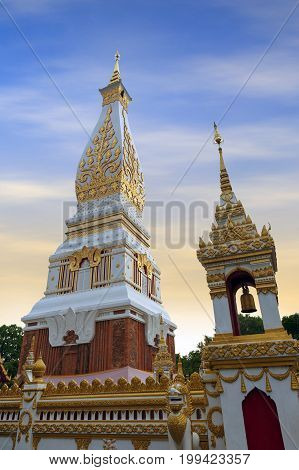 Temple Of Phra That Phanom Stupa Containing Buddha's Breast Bone, One Of The Most Important Theravad