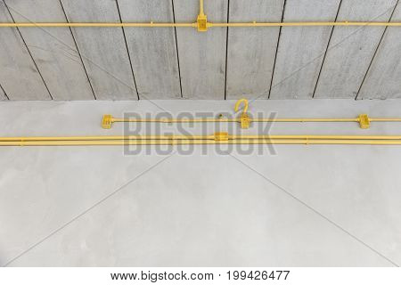 construction industry Electric pipe PVC and box under the ceiling in the home building