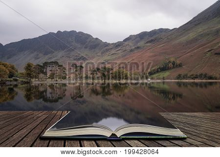 Beautiful Autumn Fall Landscape Image Of Lake Buttermere In Lake District England  Concept Coming Ou