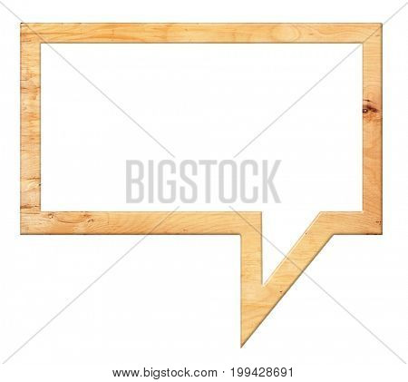 Speech bubbles frame from wood