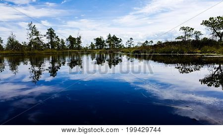 Reflection water lake cloud Nature blue outdoors