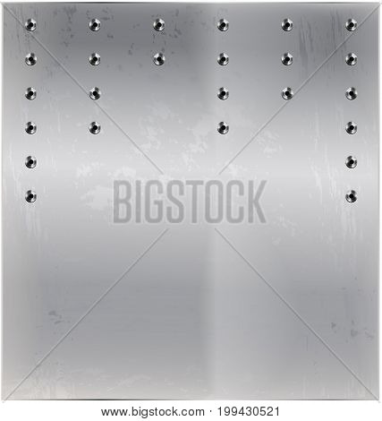 white background metal stylized sheet with holes