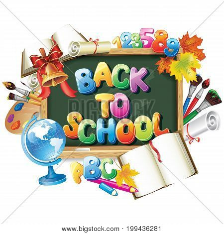 Vector design template for Back to school