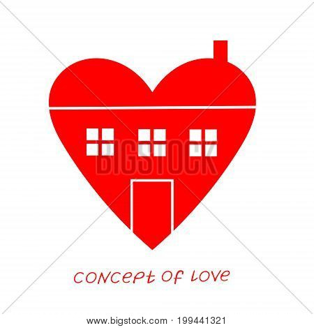 family. Template for Valentine's day. Helpful element for web design and print. Editable vector with a wide range of applications.