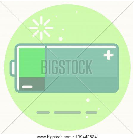 battery energy Charging icon illustration art vector