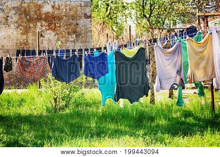 Clothes In The Sun