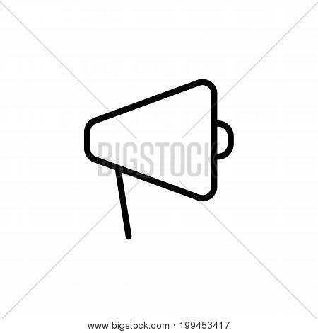 Thin Line Megaphone Icon On White Background
