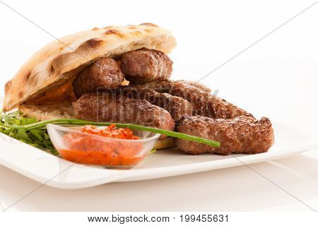 Photo Of Cevapi, Cevapcici, Traditional  Balkan Food - Delicius Minced Meat