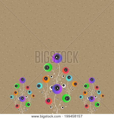 Stylized flowers. Abstract concept design. Vector illustration