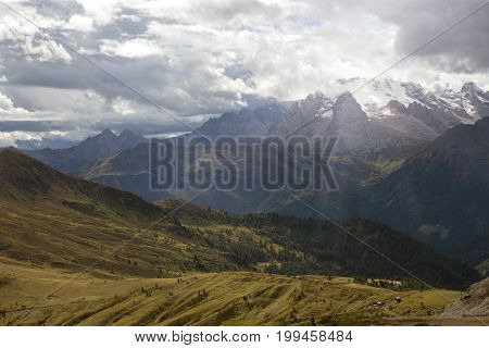 Mountain Landscape Around The Cinque Torri