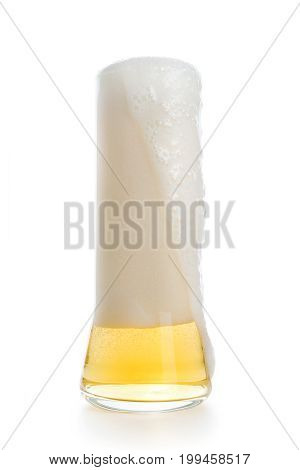 High Beer Pint Glass With Beer Foam