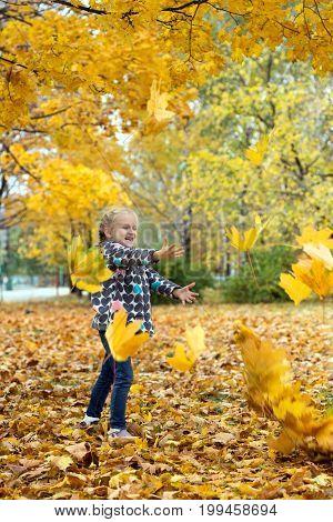 Autumn And Little Girl